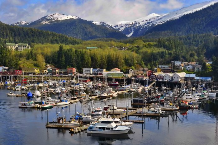Boat Marina in Ketchikan, Alaska, United States