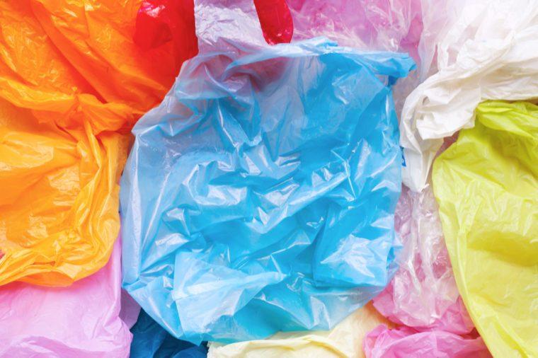 Colorful plastic bags