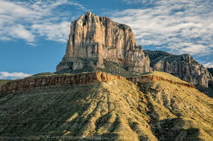 El Capitan of Guadalupe Mountains National Park at sunrise
