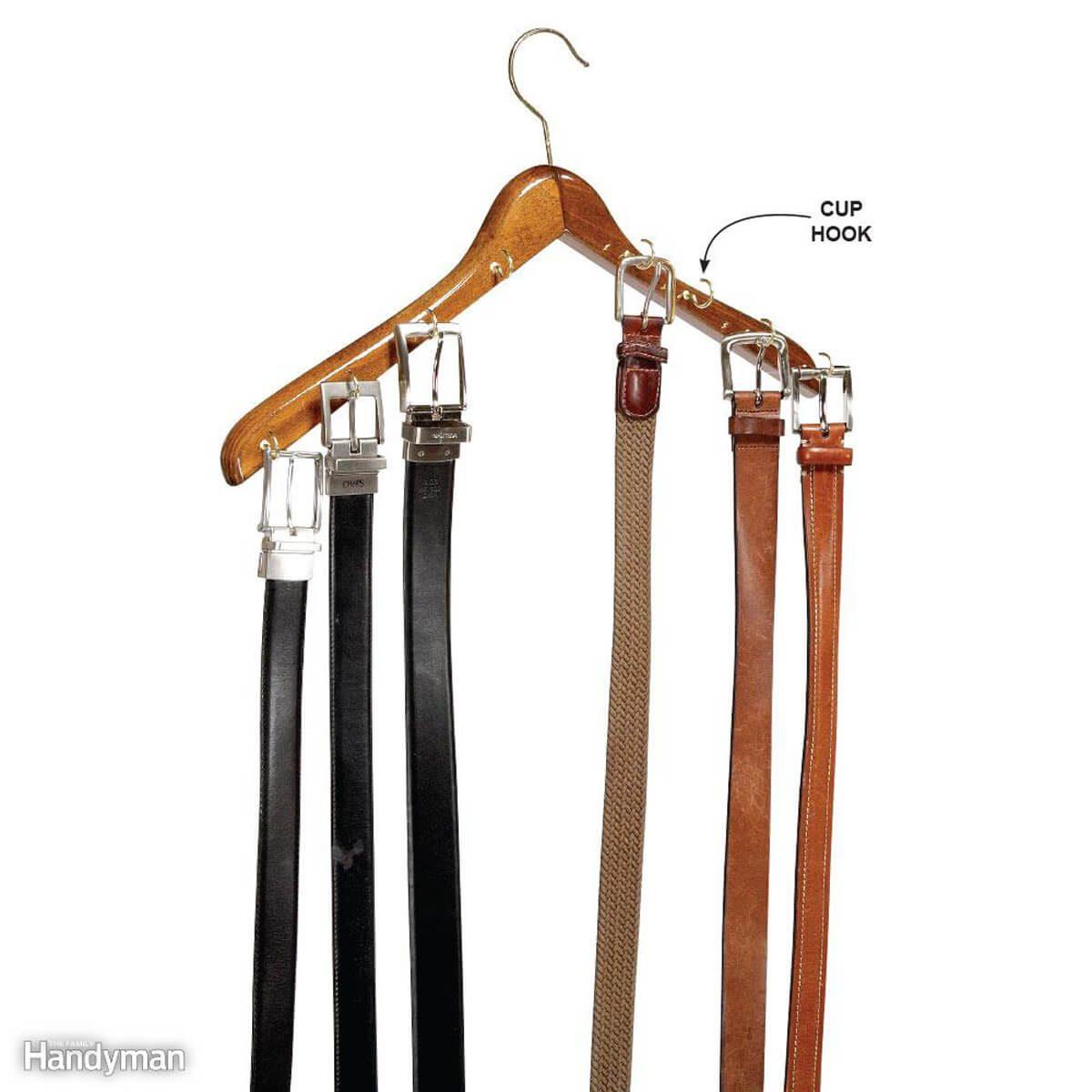 Coat rack belts