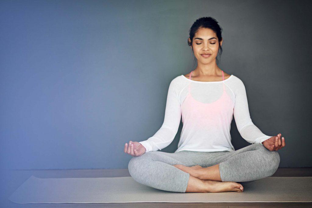 woman meditating