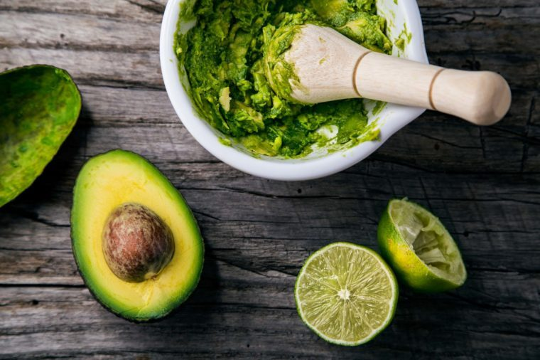guacamole with avocados and lime