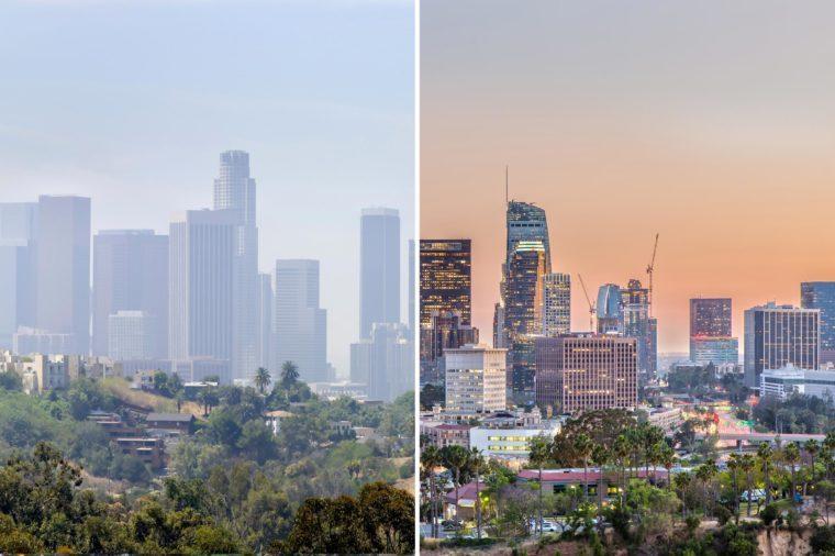 Los angeles california smog
