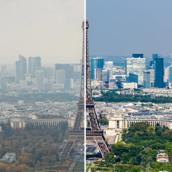 What 14 Iconic Skylines Would Look Like Without Air Pollution