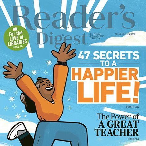 Inside the November 2019 Issue of Reader's Digest Canada