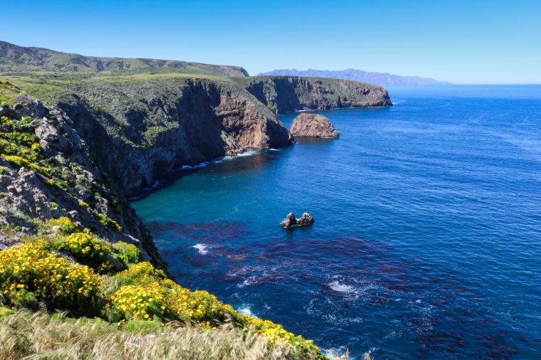 Coast of Santa Cruz Island, Channel Islands National Park