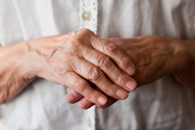 Senior woman's hand