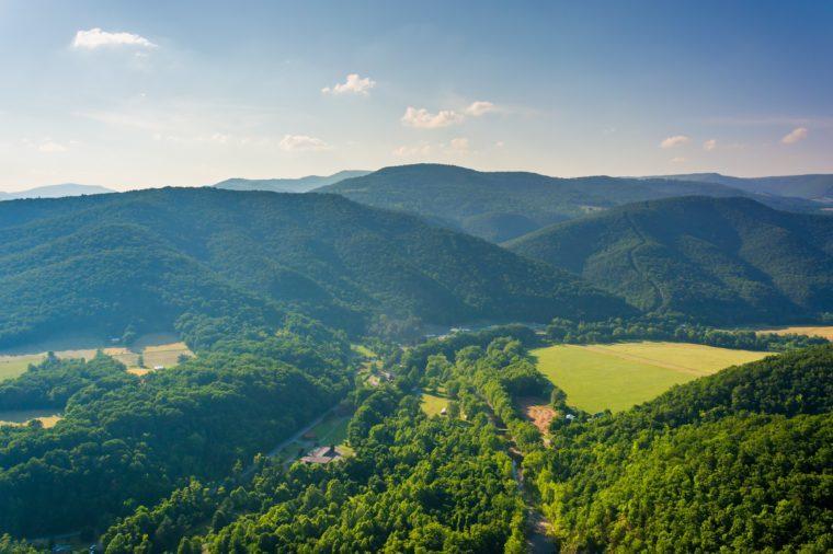 View from Seneca Rocks, Monongahela National Forest, West Virginia.