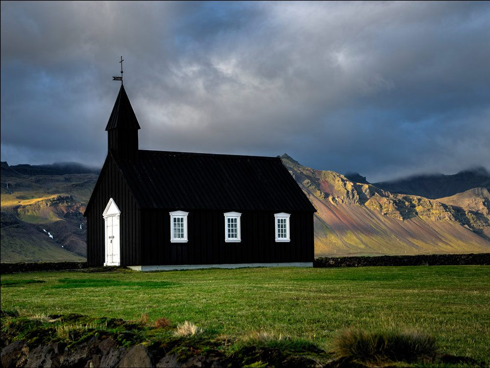 Iceland's famous black church