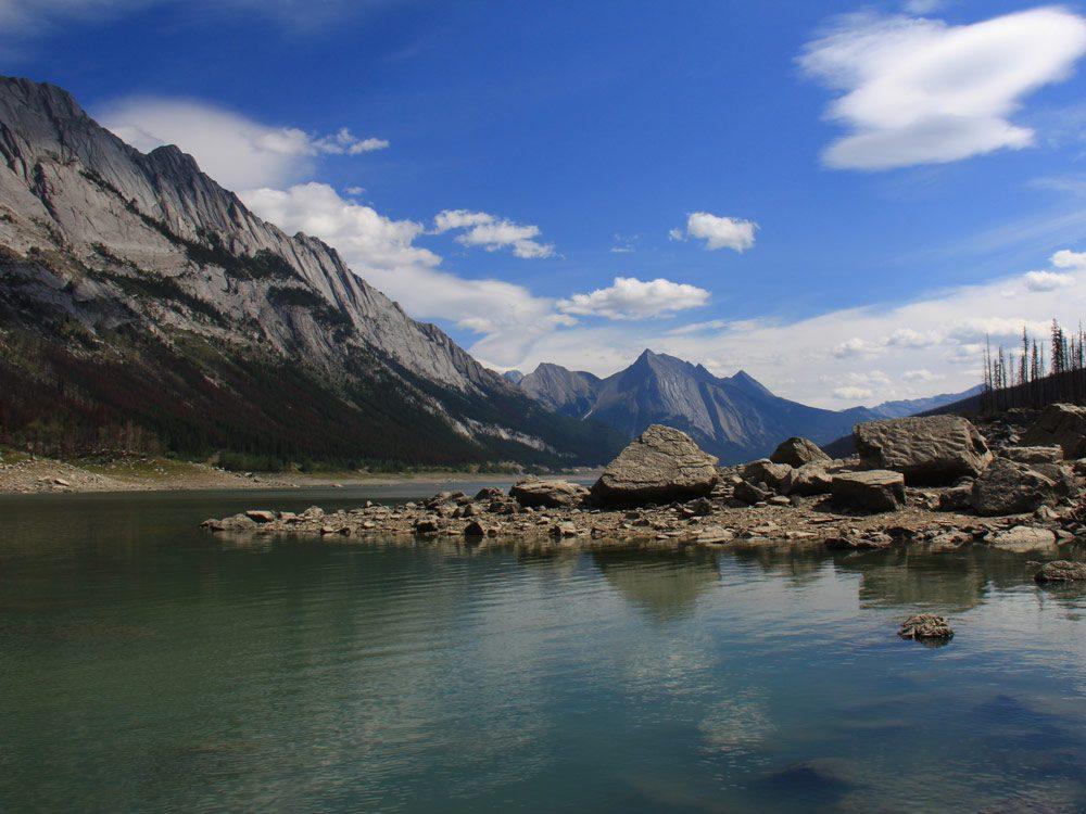 Jasper Lake in Alberta