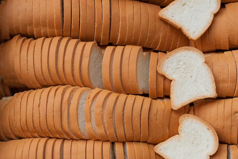 White bread slices
