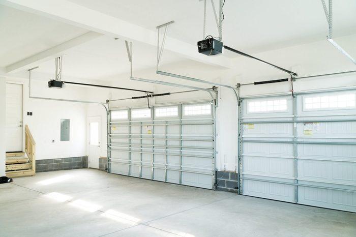 Residential house garage interior