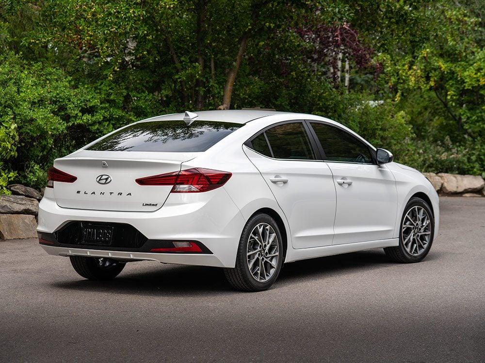 White Hyundai car