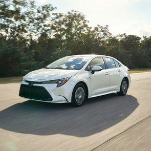 White Toyota car