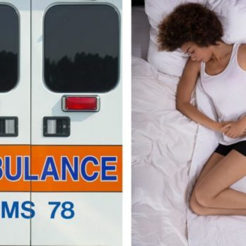 Upper abdominal pain - ambulance stomach pain not going away
