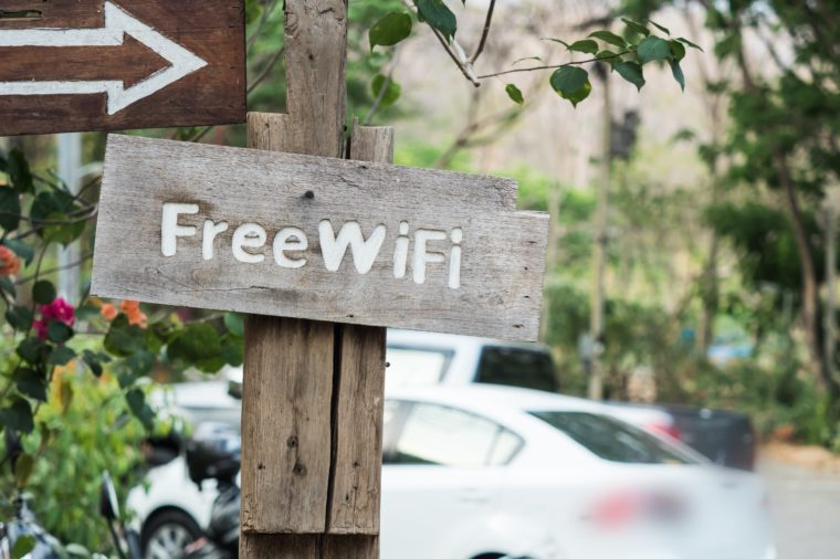 Free Wifi zone sign