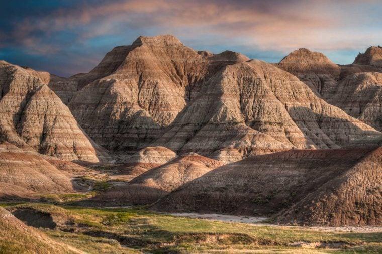 Badlands - South Dakota: sunset