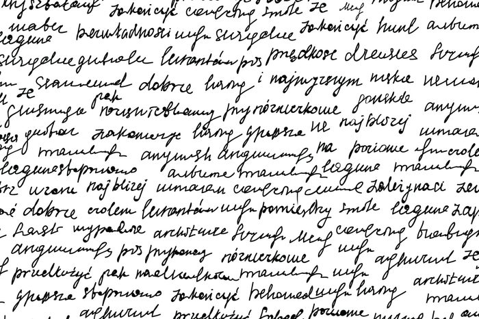 handwritten text.