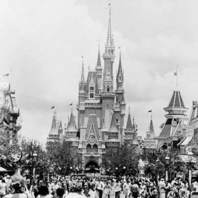 cinderella's castle vintage photo