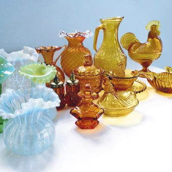Mom's Gift: What My Amber and Vaseline Glass Collection Means to Me