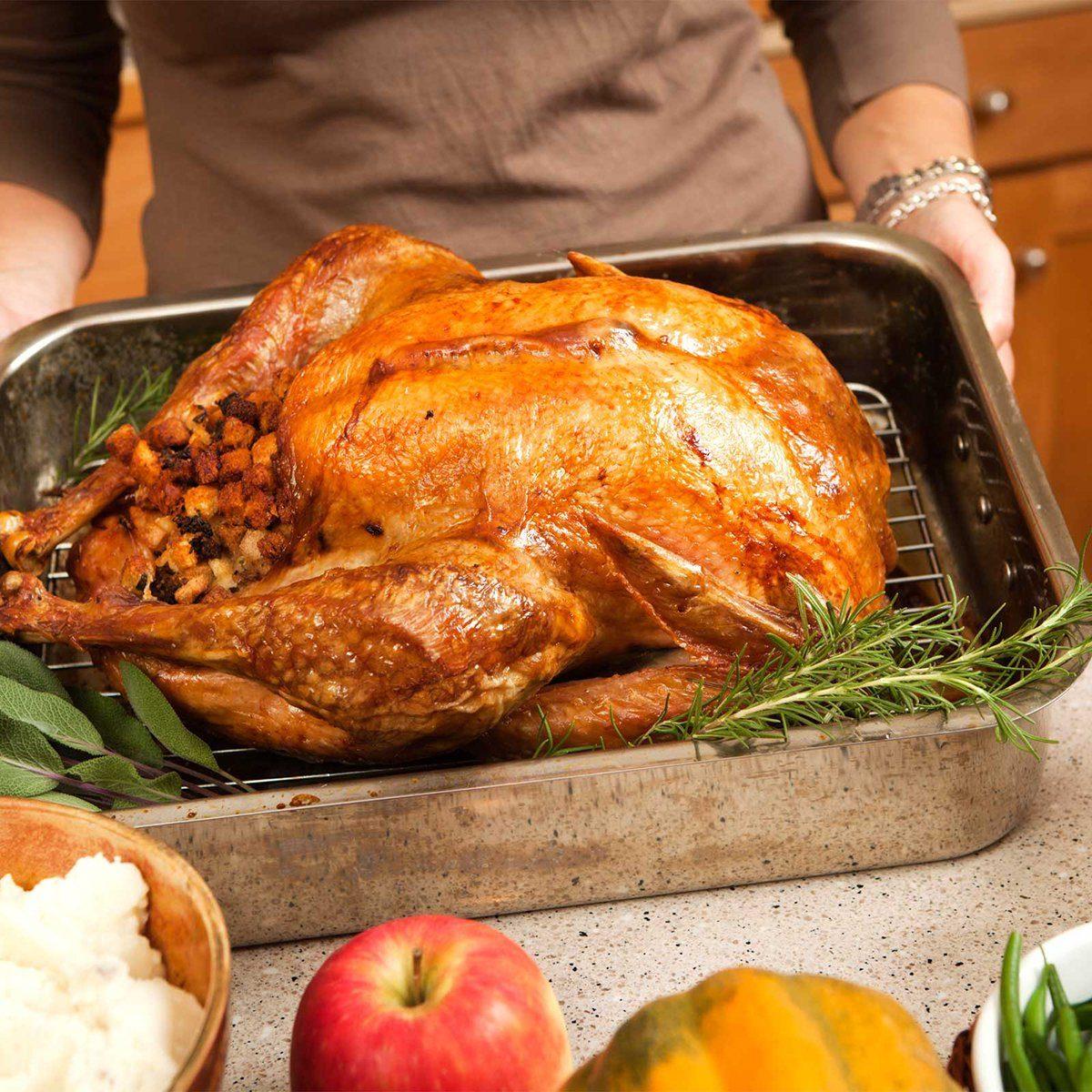 Serving a roast turkey