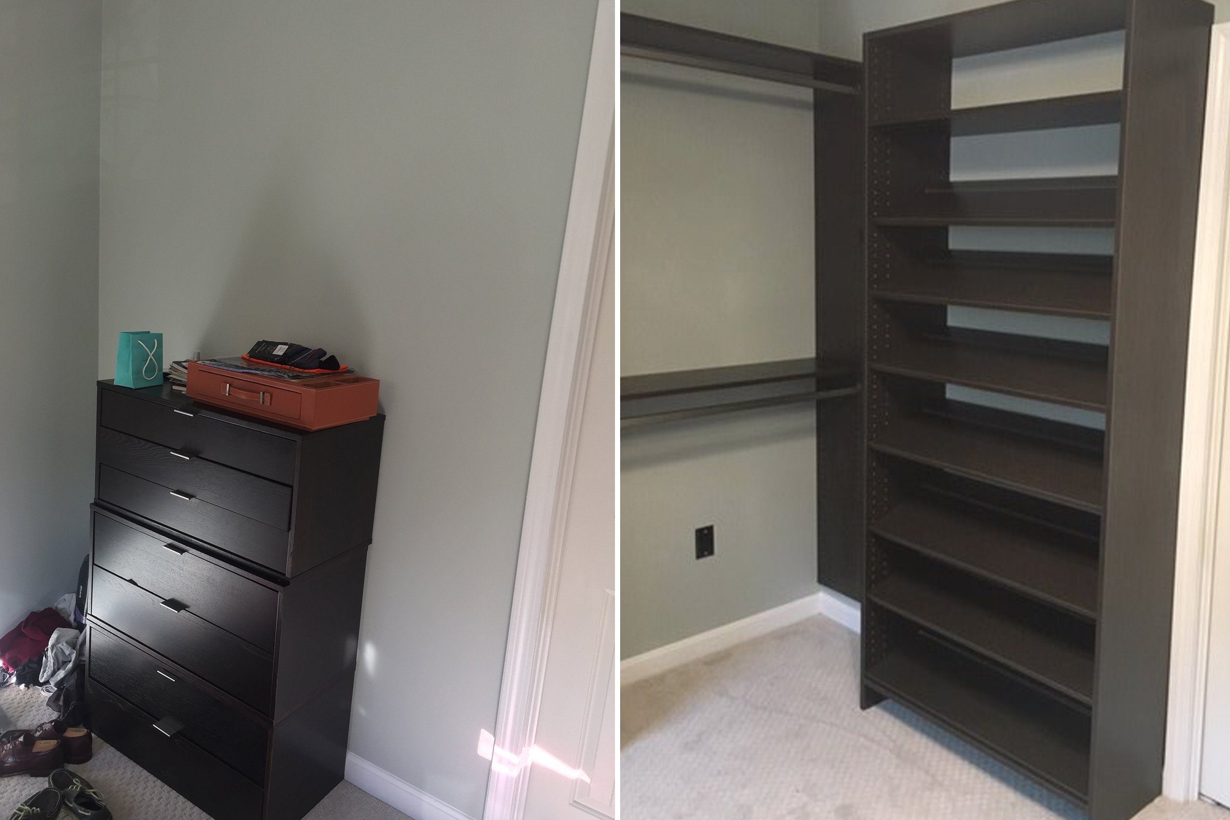 back wall home organization makeover
