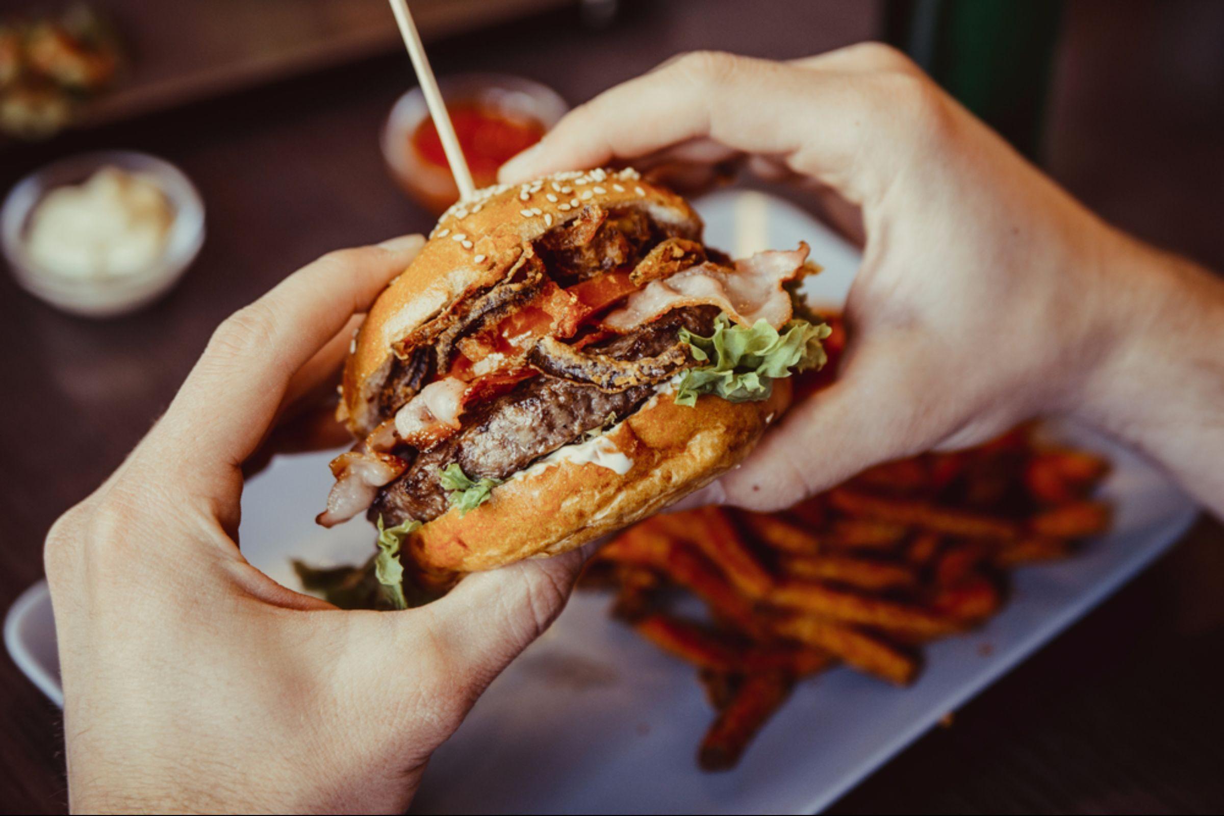 Delicious beef burger