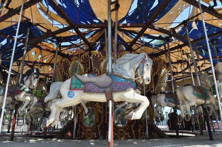 Yongma Land, a small abandoned amusement park in Yongmasan, Seoul, South Korea.