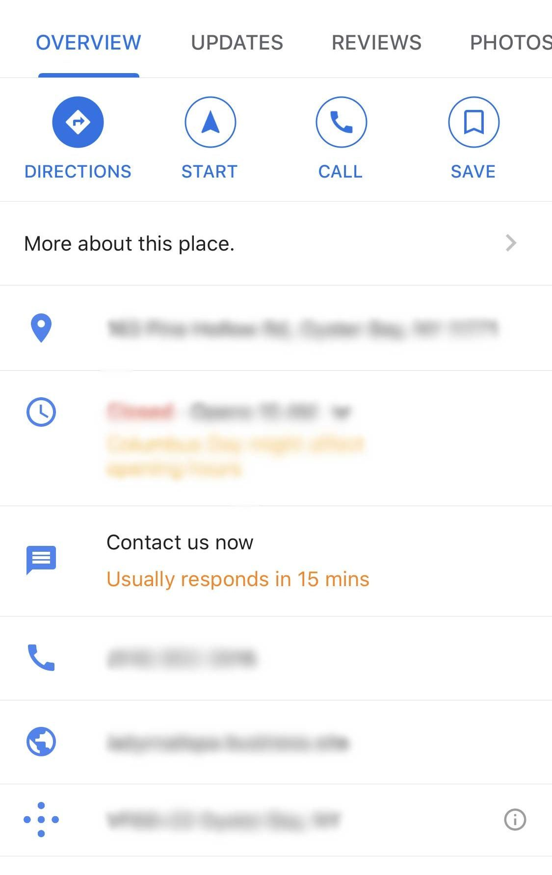 google maps contact