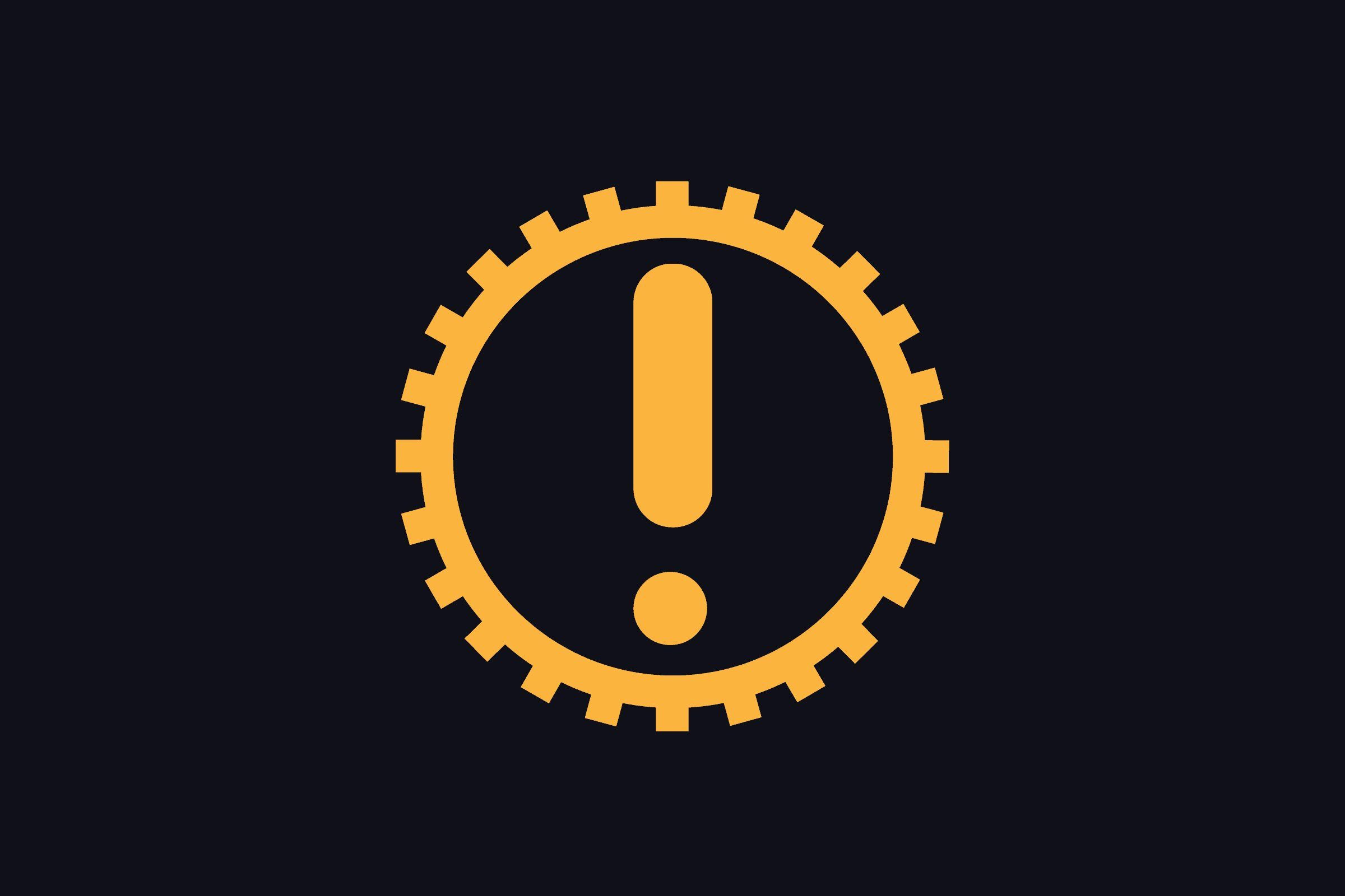 automatic gearbox warning symbol