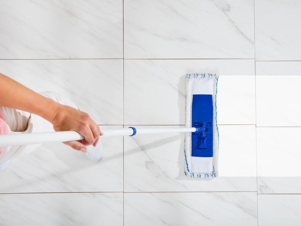 Cleaning kitchen floor