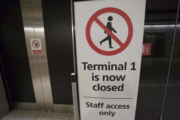 Terminal 1 at Heathrow Airport