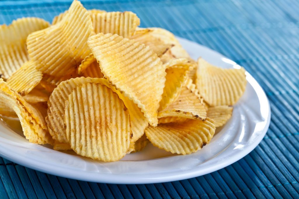Ruffled potato chips