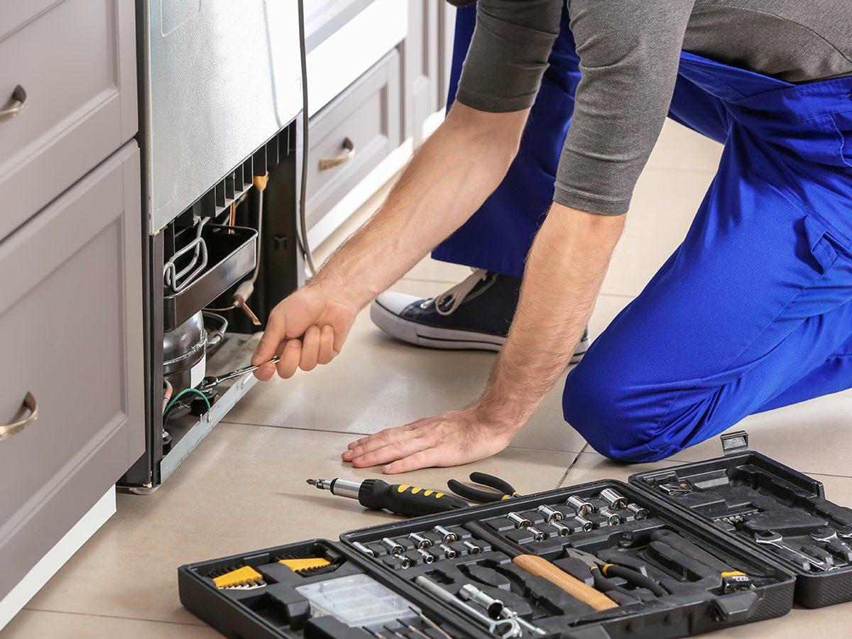 Good news - fixing refrigerator