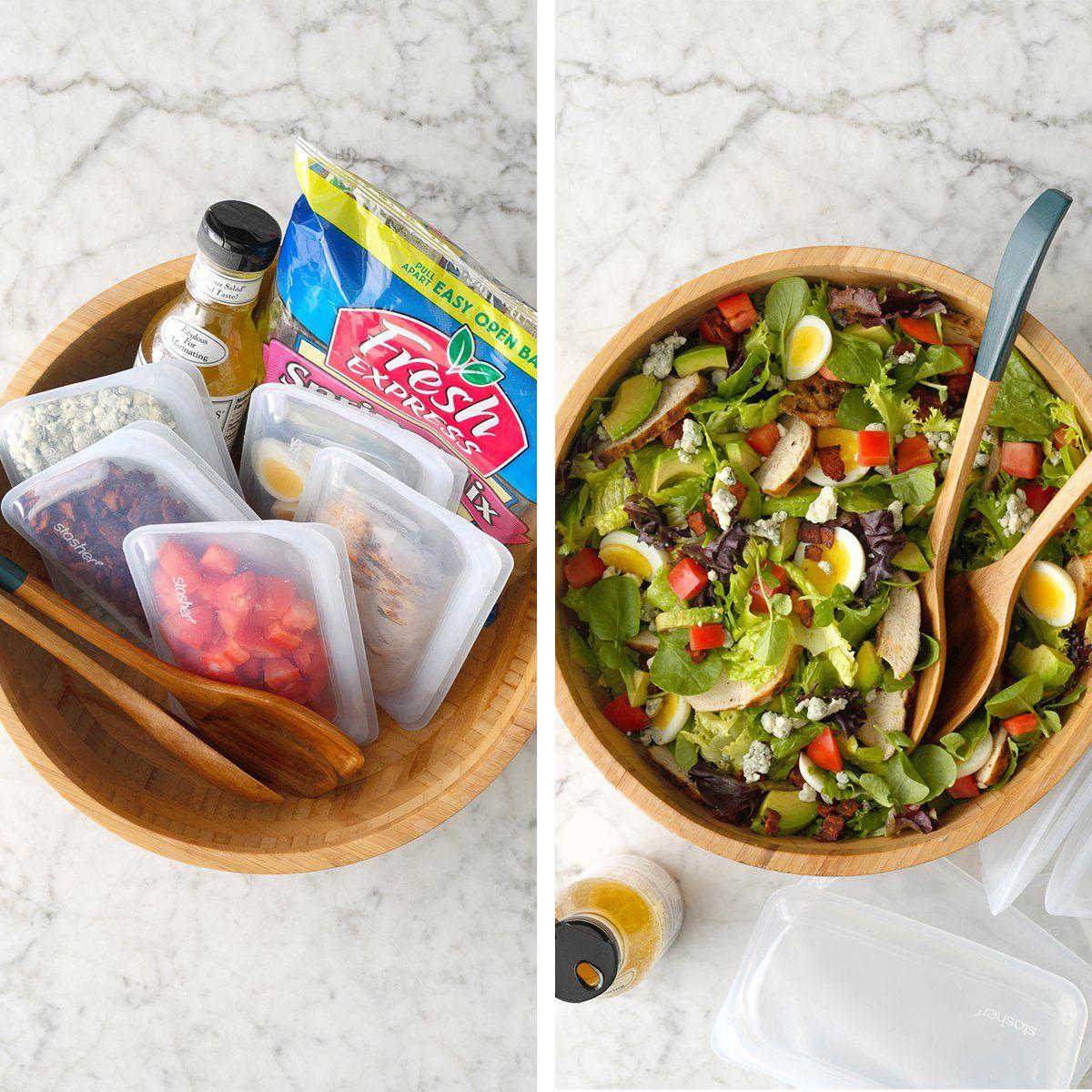 DIY salad kit for make-and-take potlucks