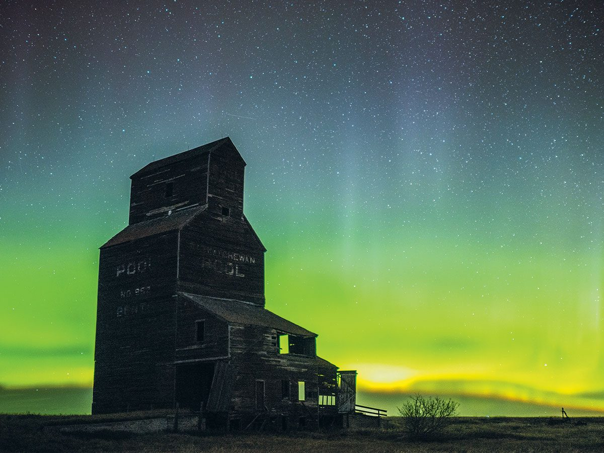 Northern Lights photography - Bents, Saskatchewan