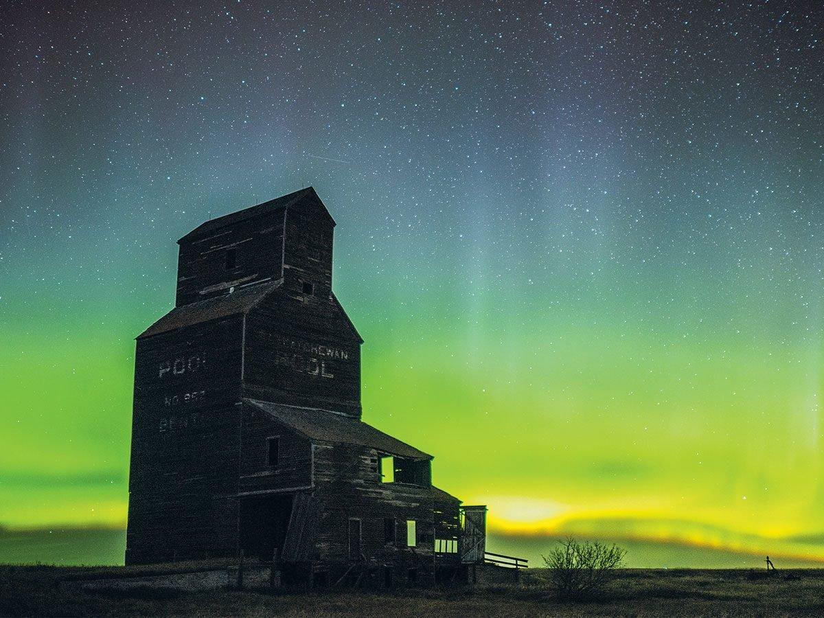 Northern Lights photography - Bents, Saskatchewan