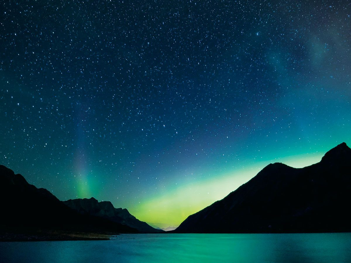 Northern Lights photography - Spray Valley