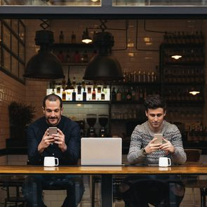 Public Wifi Cafe - People using their phones at a cafe