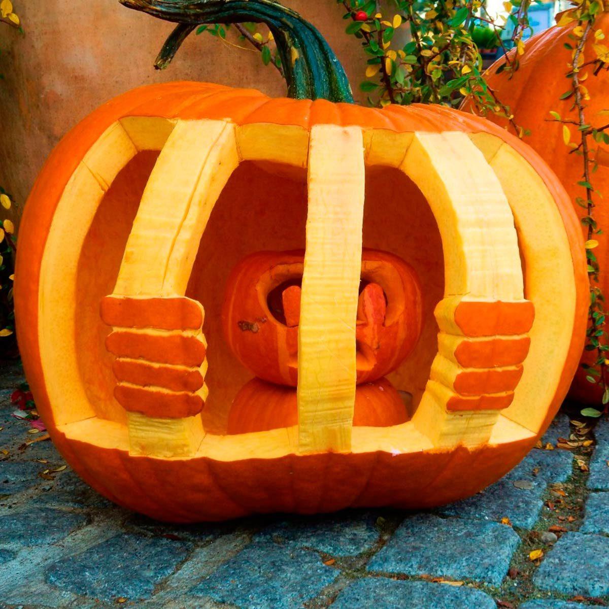 Jail cell pumpkin carving