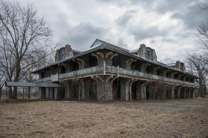 Amherstburg, Ontario Canada March 9TH, 2018. The abandoned Boblo Island Amusement Park on Boblo Island near Amherstburg, Ontario. Photo Taken on March 9th, 2018