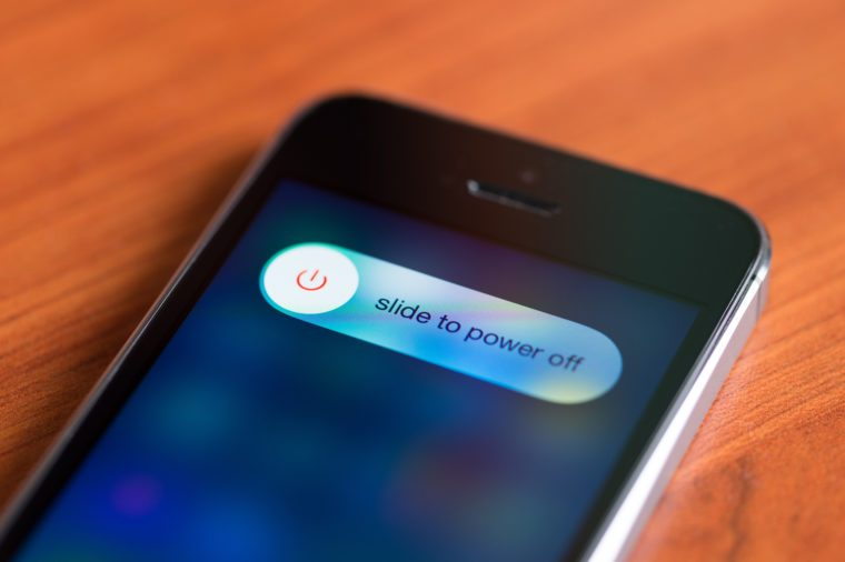 slide to power off iphone