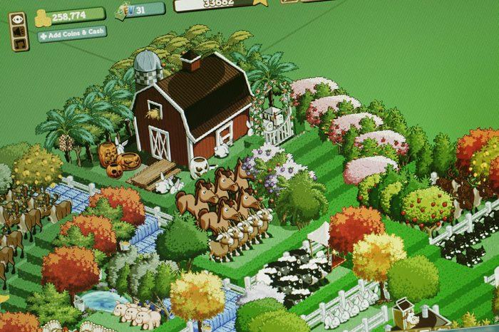 screenshot of farmville game