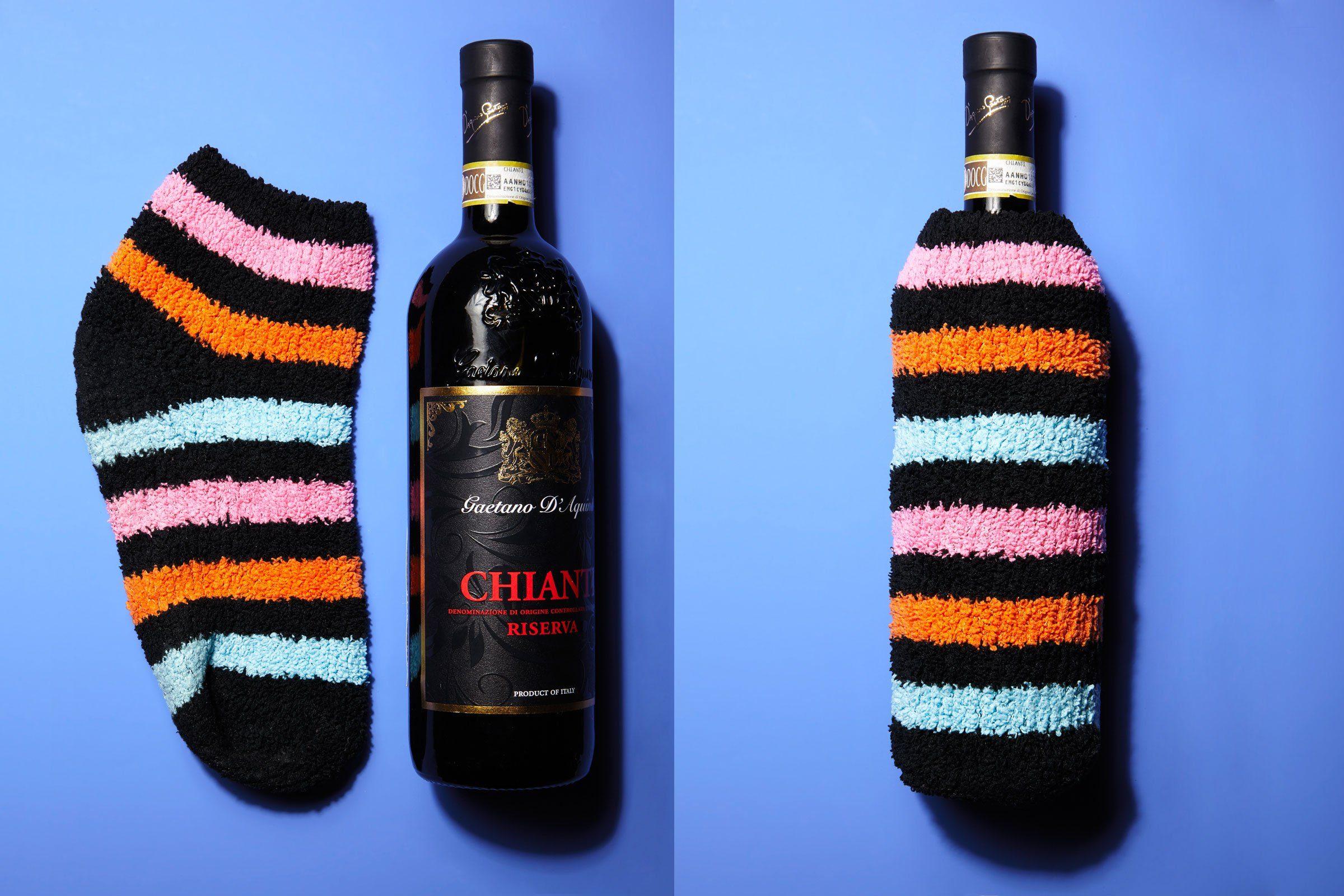 single sock wine