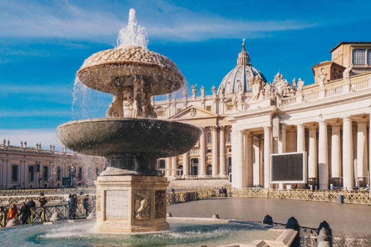 Vatican City, Rome, Saint Peter's Basilica in St. Peter's Square