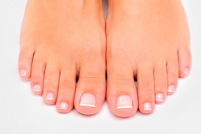 close up of bare feet and toes