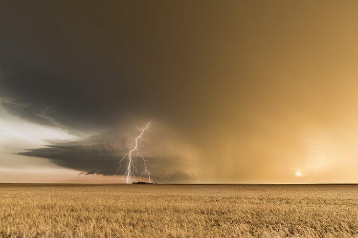 golden hour storm