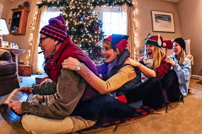 funny family christmas photo