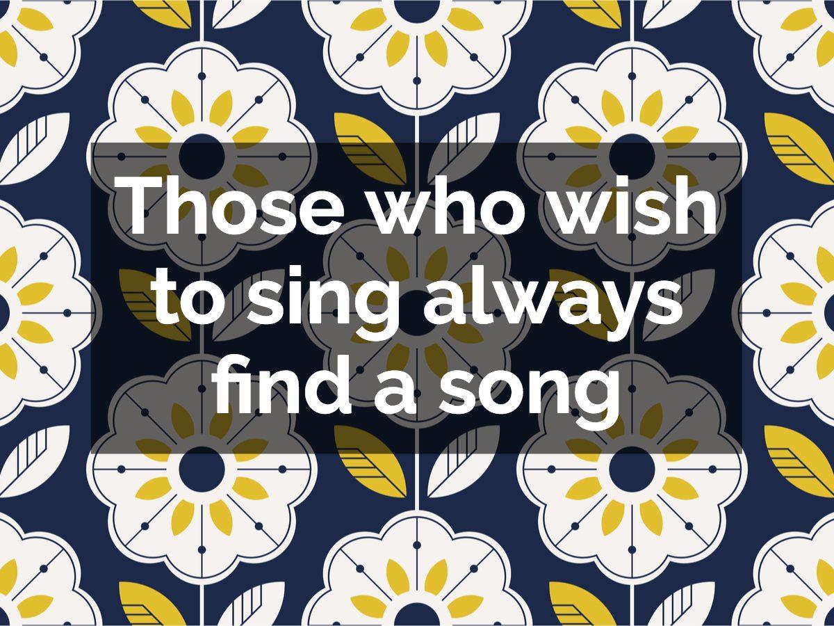 Swedish proverb