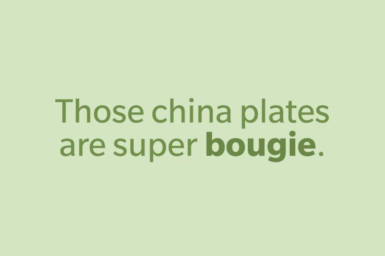 slang words bougie